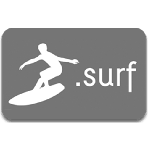 Register domain in the zone .surf