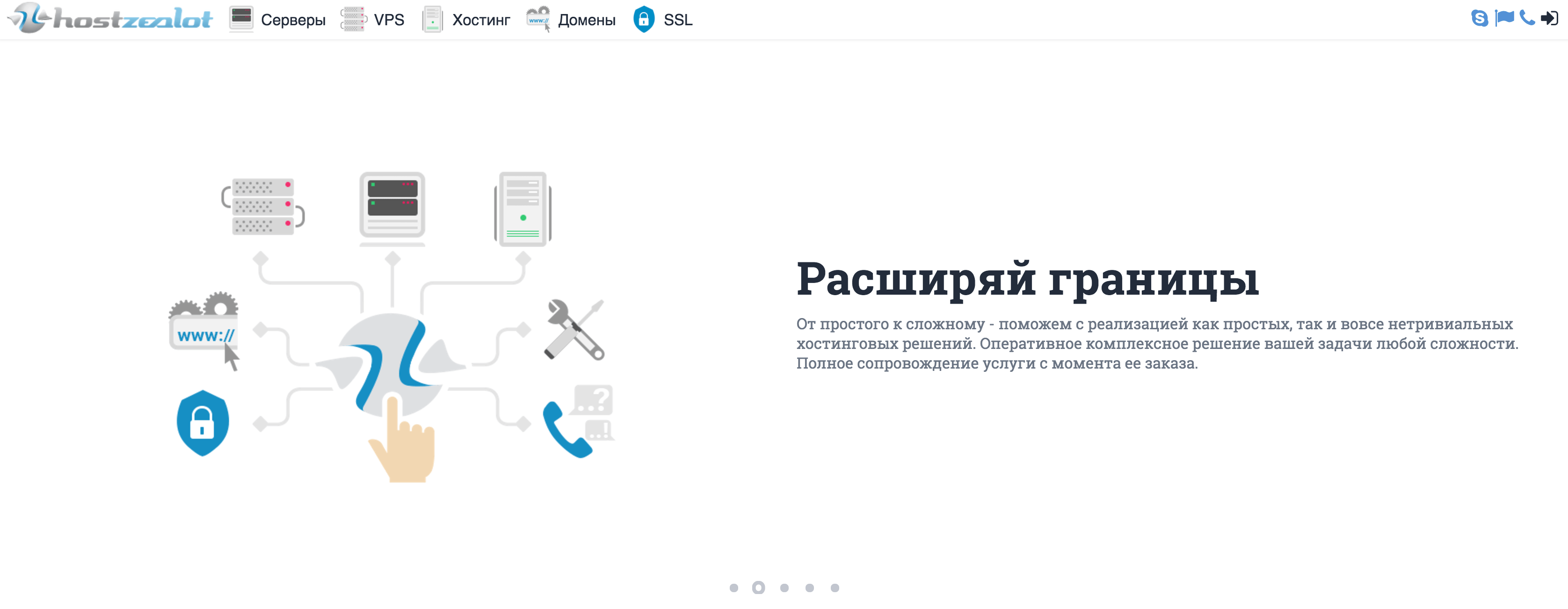 Launch of a new website hostzealot.ru