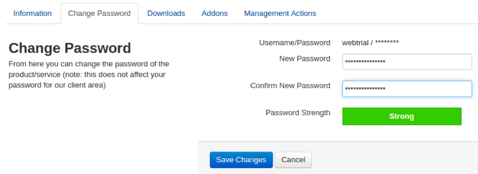 How do I change my password in cPanel?